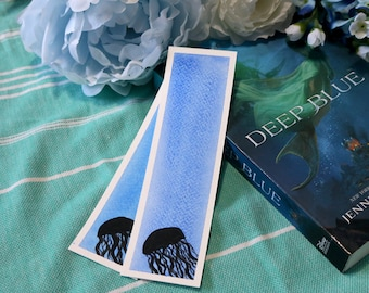 Jellyfish Watercolor Bookmarks