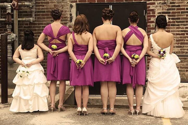 convertible wrap bridesmaid dress