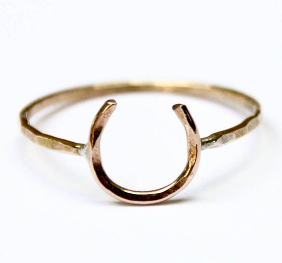 Horseshoe Ring Lucky Horseshoe Equestrian Ring Equestrian