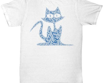 Mad Cat Lady Awesome Word-cloud T-Shirt