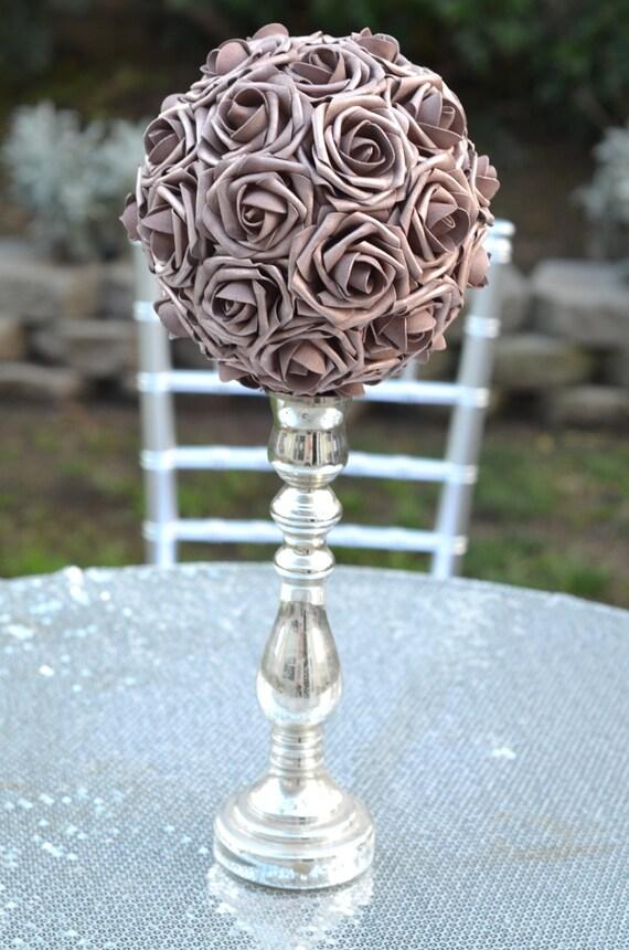 Rose Gold Flower Ball Rose Gold Wedding Rose Gold Pomander