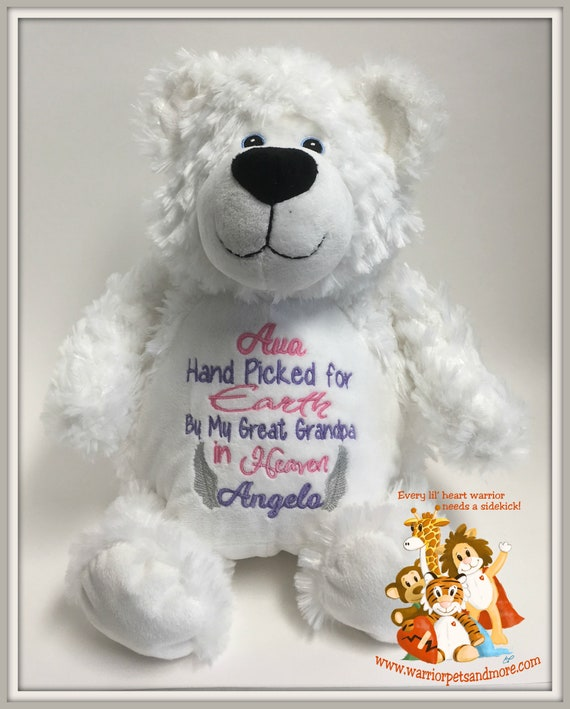 Handpicked for Earth by My Big Sister/Big Brother grandma/grandpa in Heaven, stuffed animal