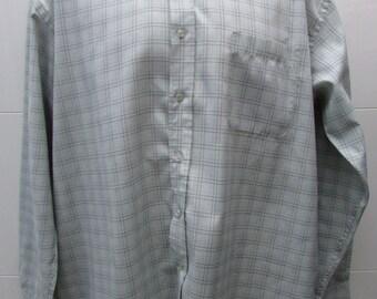 EWM Checked Button Down Collar Long Sleeved Shirt