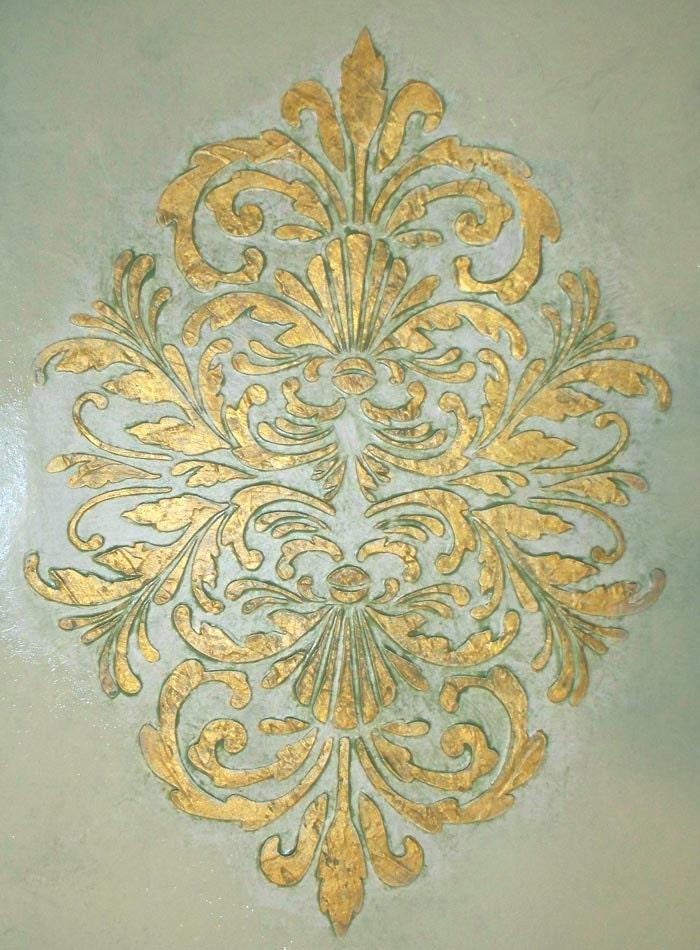 Stencil/ Plaster Stencil Bella Medallion Wall Stencil/Decorative ...