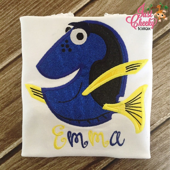 Dory Inspired Embroidered Shirt - Finding Nemo - Finding Dory - Clownfish - Blue Tang - Disney Vacation - Disney Birthday