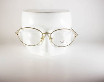 Genny 571 5122 Made in Italy CE Unisex 55-17-135 Vintage Frames Gold Metal NOS Deadstock - Free Shipping-GENF203J-1