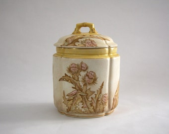 The Potters Wheel Burroughs Mountford Thistle Biscuit Jar