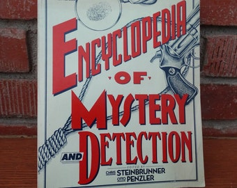 1976 Encyclopedia of Mystery & Detection, Learn about Famous Authors, Detectives, Directors and more, Hundreds of Photos, Solve that Mystery