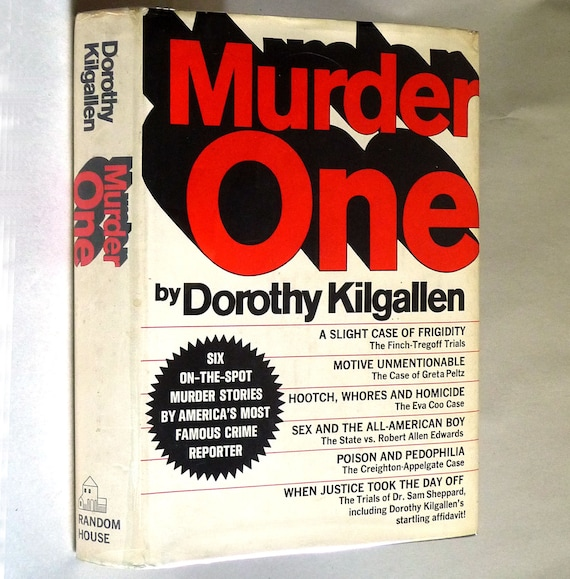 Murder One 1967 by Dorothy Kilgallen - 2nd Printing - Random House - Hardcover HC w/ Dust Jacket - True Crime Journalist's Accounts