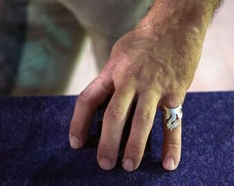 Game of Thrones Dragon ring, Khaleesi Dragon Silver Ring, Ring of Targaryen House
