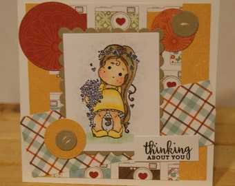 Tilda Thinking of you Greeting Card