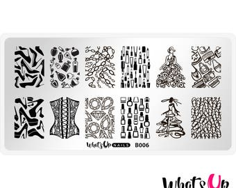 B006 A Lá Mode Stamping Plate For Stamped Nail Art Design