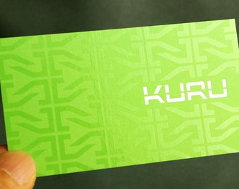 250 Business Cards - Spot UV one side - 16 PT dull cover matte stock - custom printed