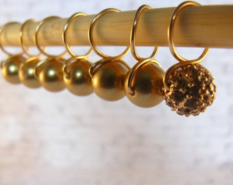 Bead Hugging Snag Free Gold  Stitch Markers