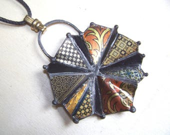 Recycled  tin Neclace