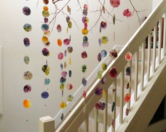 Colorful Hanging Mobile - Branch Mobile, Circle Mobile, Home Decor, Hanging Art, Nursery Mobile, Gifts for Her, Mothers Day Gift,Baby Mobile