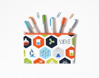 Science Pencil Case, Chemistry Geek Gift, Planner Pouch, Zipper Pouch, Atom Teacher Gift, Planner Accessory, School Supplies