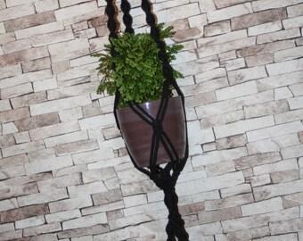 Double plant hanger, Double planter, Two plant hanger, Macrame hanging planter, Boho Decor, Cotton plant hanger