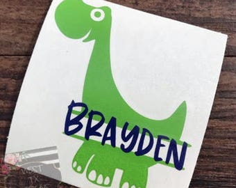 Dinosaur Decal | Personalized Dinosaur | Personalized Decal | Yeti Decal | Yeti Tumbler Decal | Decal for boys | Ozark Trail Decal