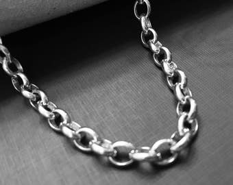 The Finest Silver - on the Market - Argentium 960 Fine Silver- Natural Belcher 5.9mm x 7.4mm Chain  w/Lobster Clasp -Choose your length