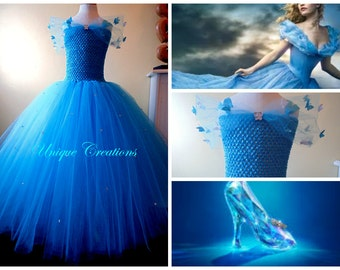 New Cinderella 2015 dress with butterflies and crystals