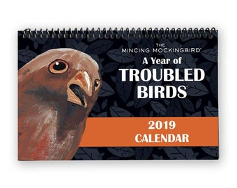 The Mincing Mockingbird Troubled Birds 2019 Wall Calendar - Bird - Painting