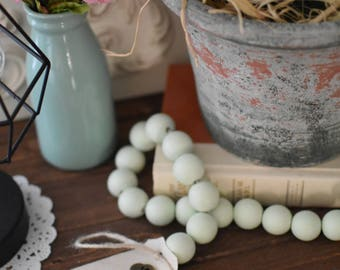 Mint Green Wood Bead Garland - Light Green Ball Garland - Key to Decor Beads Green Garland - Green Wooden Bead Garland - Green Ball Garland