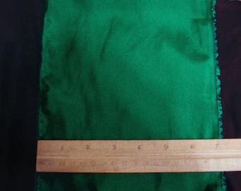 100% Silk Habotai - Emerald Green