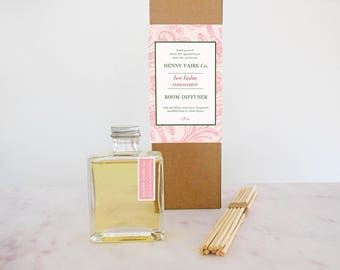 mothers day | spa gift for mom | gift for gardening mom | bee balm rosewater reed diffuser | citrus rose fragrance room diffuser | 5 oz