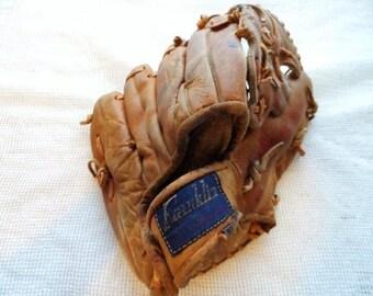 Franklin F127 Leather Ball Glove- Bob Johnson Baseball Glove- Old Leather- Vintage Baseball Memorabilia- Collectible Glove