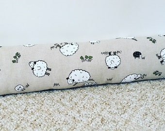 Sheep print draught excluder