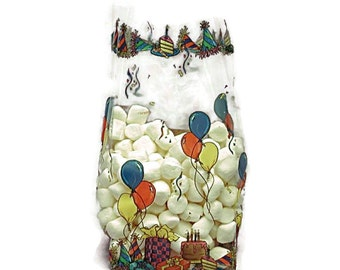 Free Ship 25 Birthday Balloon Cellophane Bags, Great for Birthday Parties