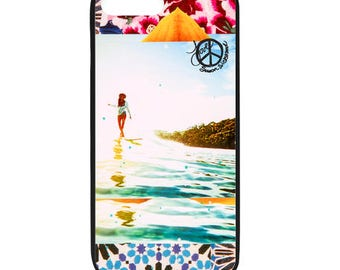 NEW iPhone 8/8+ Case, BLOOM Lauren Hill, Best Seller, Female Surfer, Beach, Surf, Surf Art, Ocean, Art, black case color, Apple iPhone