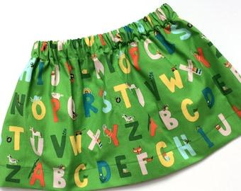 ABCs // alphabet skirt // toddler and baby skirt