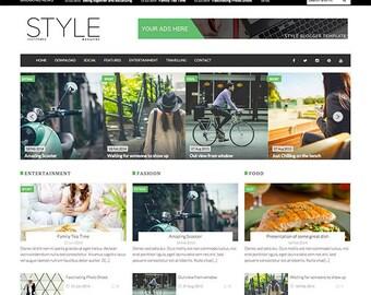 SALE Style Magazine Premade Blogger Template