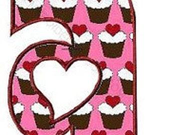 Heart 1 lowercase  Machine Embroidery design Font applique