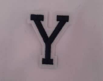 Y iron on patch
