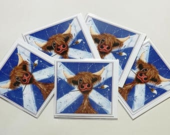 """Pack of 5 Greetings Cards - """"Fond o' Skiddlin' Aboot"""""""