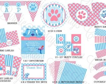 Blues Clues Birthday Party Pack -- Printable Custom DIY