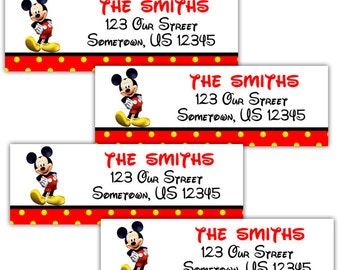 Mickey Mouse - Personalized Address labels, Stickers