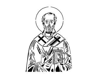 Saint Nicholas of Myra Reusable Stencil