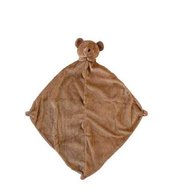 monogrammed brown bear lovie    angel dear    personalized