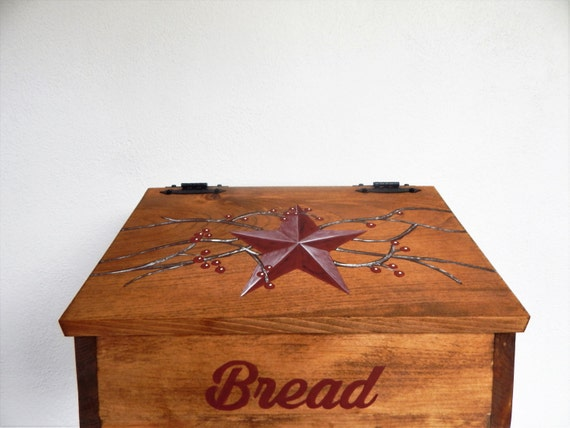 Bread Box, Wooden Bread Box, Primitive Bread Box, Primitive Decor, Primitive Kitchen, Farmhouse Decor, Country Decor, Storage for bread