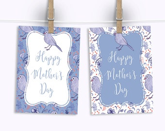 "Mother's Day Signs. Light Blue Bird Theme. Mother's Day Brunch Sign. 8x10"" in two colors. *INSTANT DOWNLOAD*"