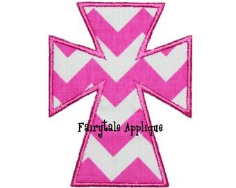 Digital Machine Embroidery Design -  Sassy Cross Applique