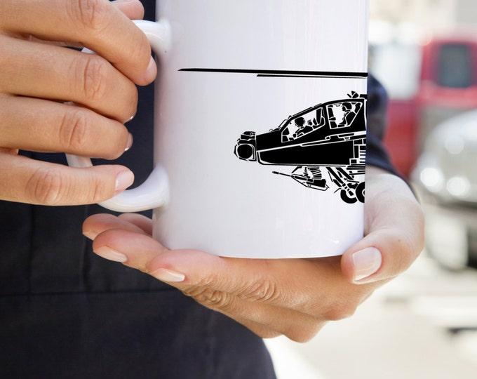 KillerBeeMoto:   Coffee Mug Boeing AH-64 Apache Attack Helicopter Coffee Mug