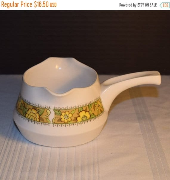 Delayed Shipping Noritake Progression Festival Gravy Boat Vintage Handled Gravy Boat Double Spout Hard to Find 1970s Noritake Replacement Di