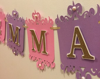 Princess name banner