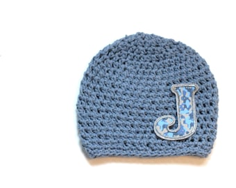 Hat | Monogrammed | Boys Hat | Cotton Crochet | Denim Blue | Camouflage Hat | Initial | Name | Personalized Hat | Kids Hats | Accessory