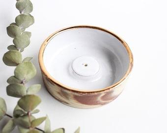 Marbled Incense Holder + Gold Luster